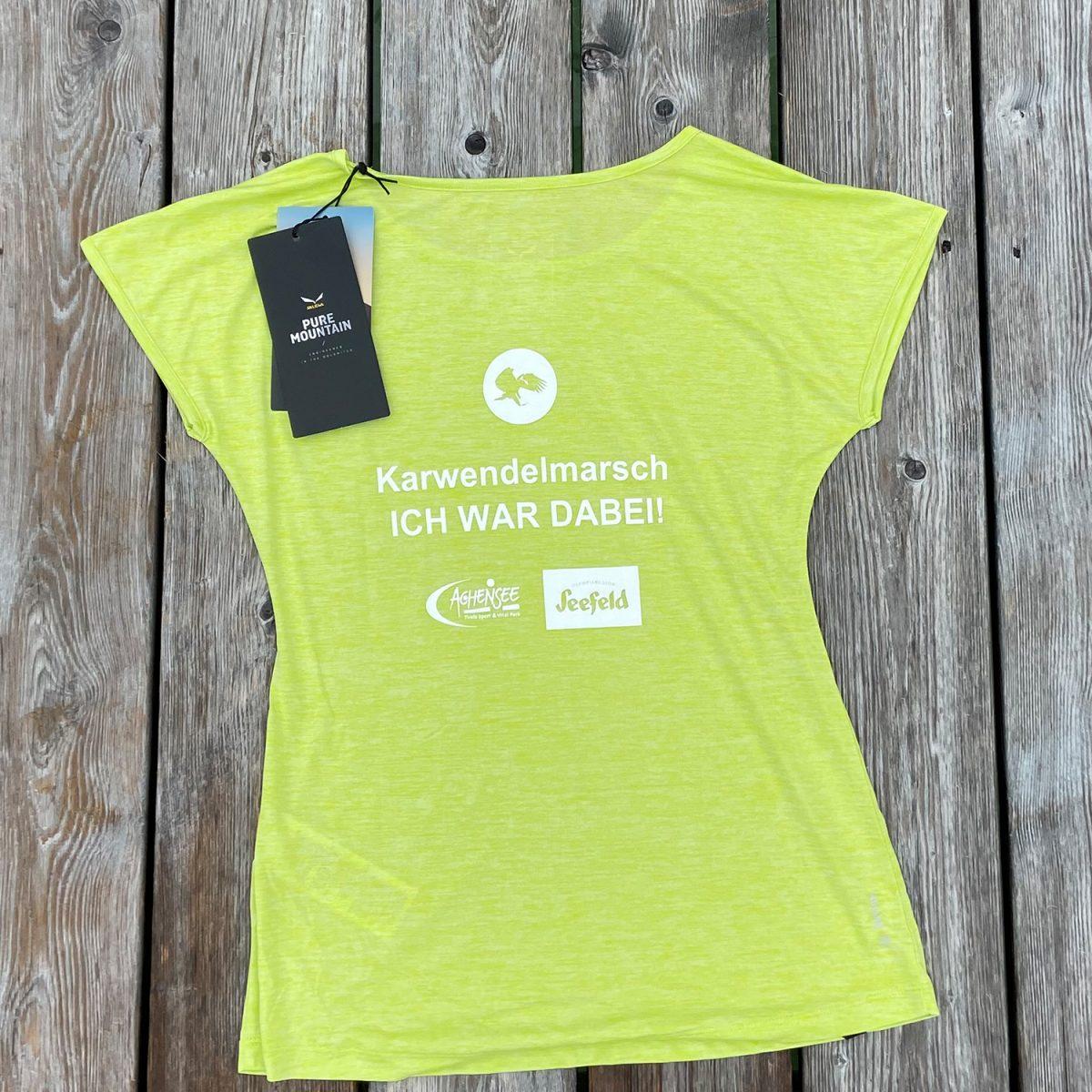"""Salewa Shirt – """"Ich war dabei"""" Karwendelmarsch (Woman)"""
