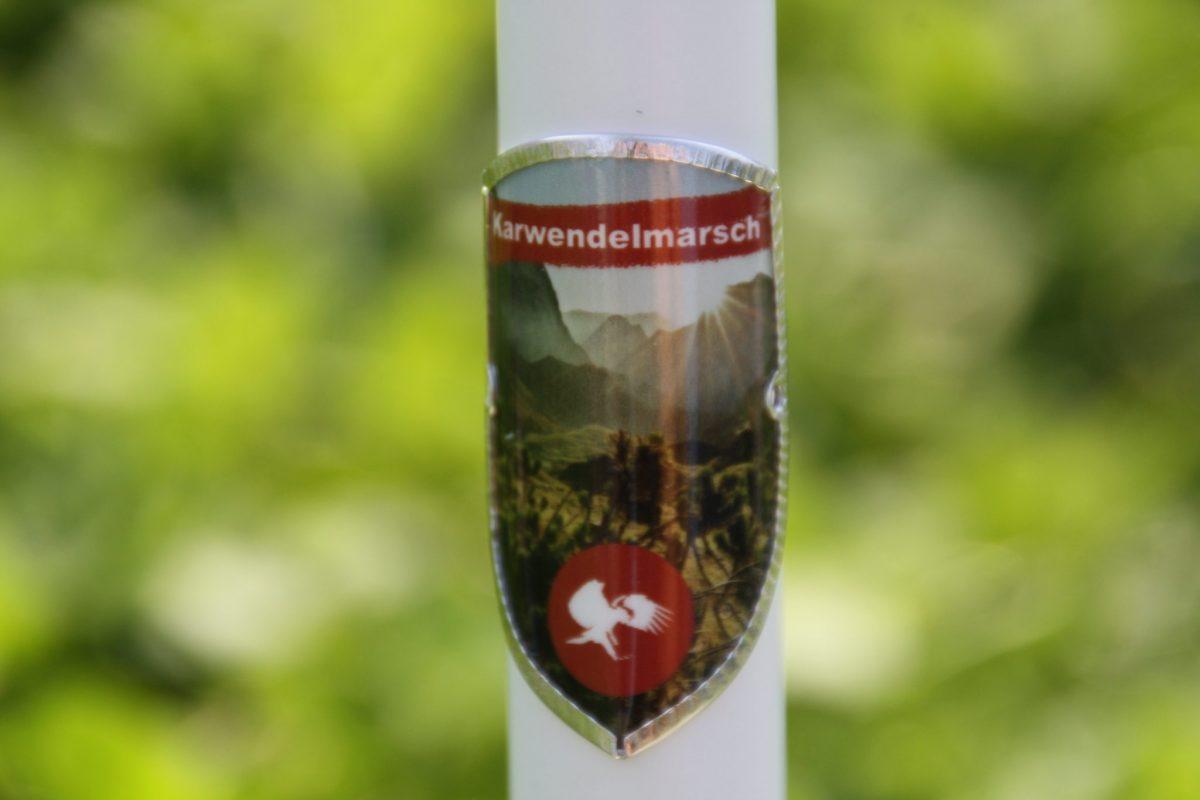 Karwendelmarsch hiking stick medallion